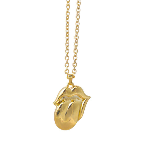 The Rolling Stones Crystal Tongue Necklace