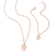 The Rolling Stones Rose Gold Tongue Necklace & Bracelet Set