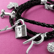The Saturdays Leather Wrap Charm Bracelet