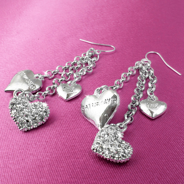 The Saturdays Crystal Heart Earrings