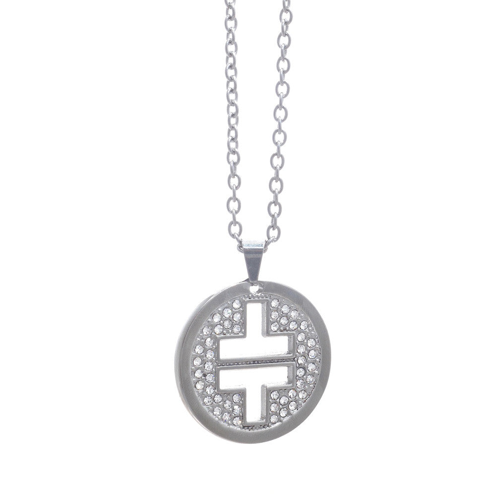 Take That Crystal Logo Necklace