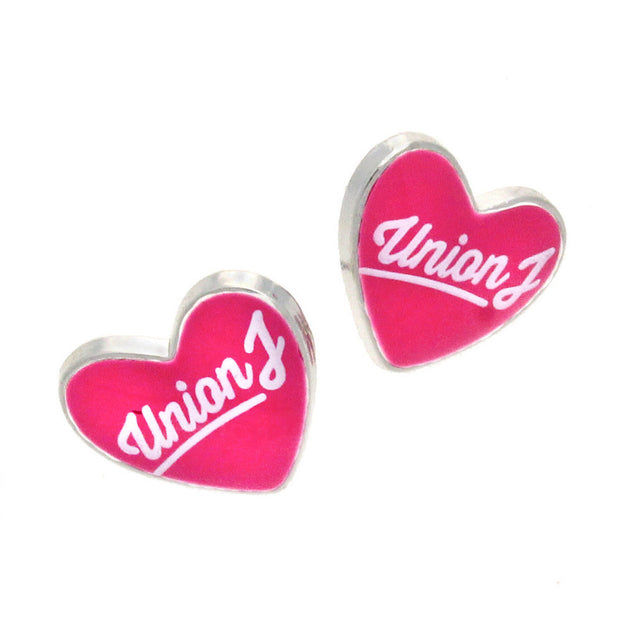 Union J Pink Heart Earrings