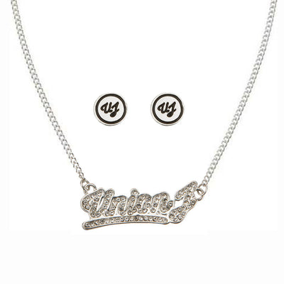 Union J Script Necklace & Earrings Set