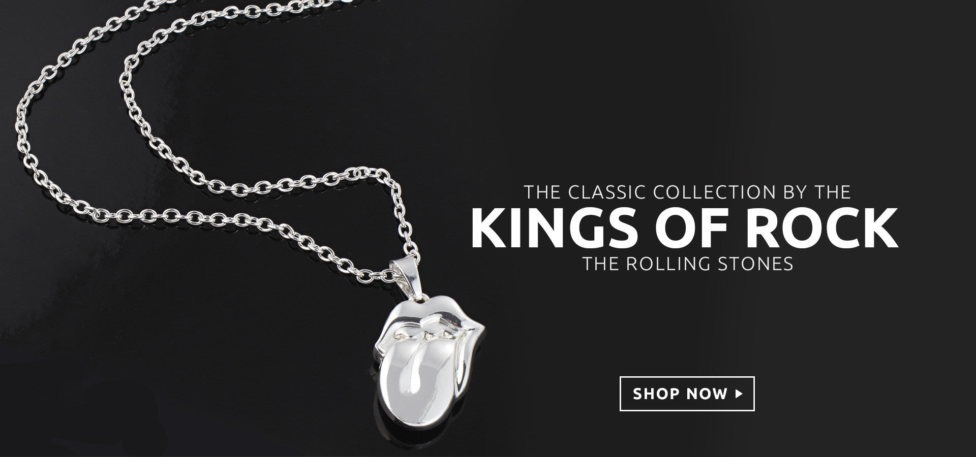 The Rolling Stones tongue necklace merch