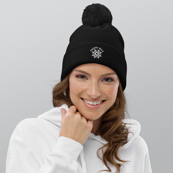 TROPIC WAY Pom-Pom Beanie