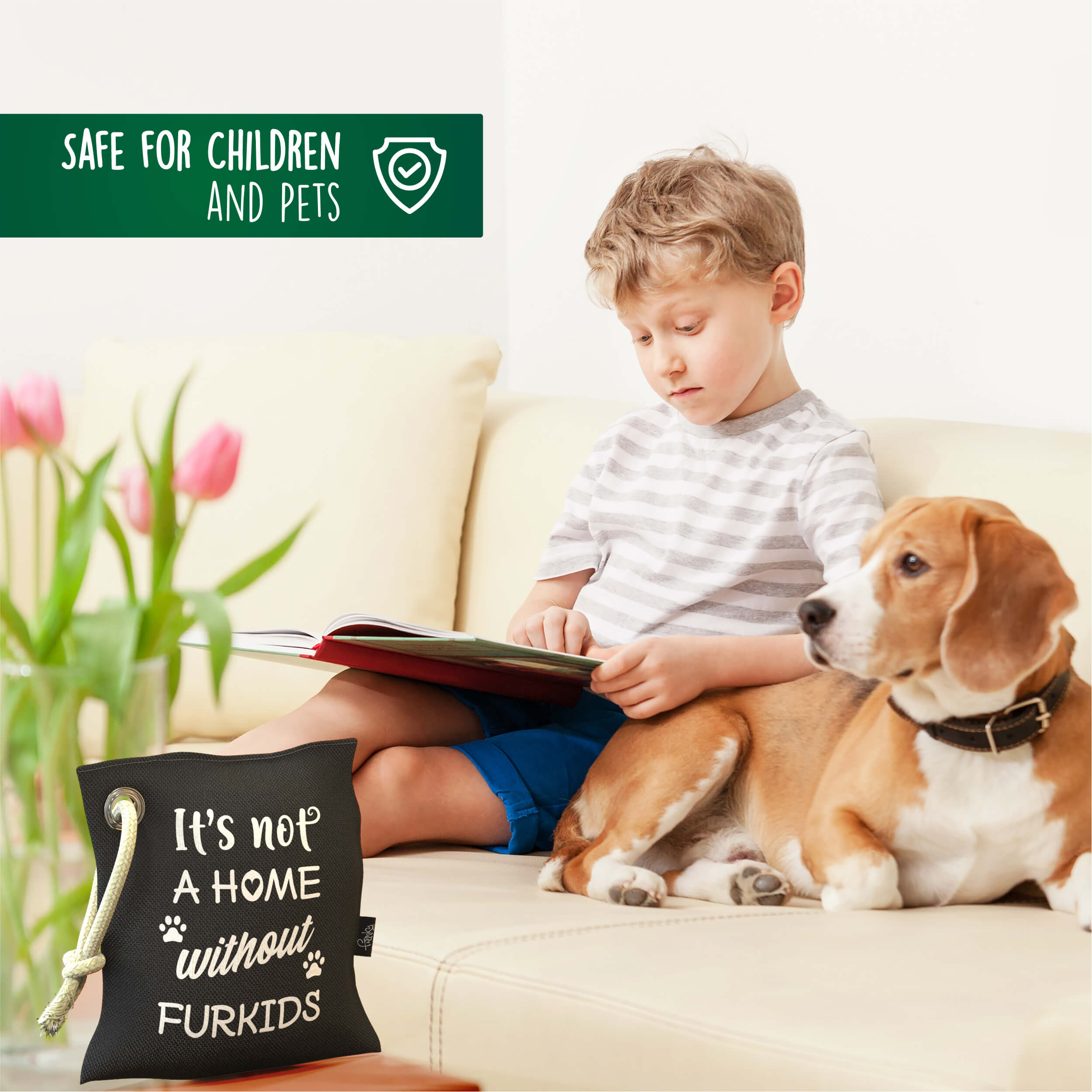 Funnky Bamboo Charcoal Air Purifying Bags are safe for Children and Pets