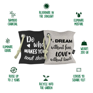 Funnky Bamboo Charcoal Air Purifying Bags Infographic