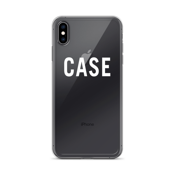 Case iPhone Case (White Lettering)