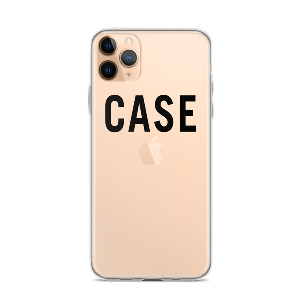 Case iPhone Case (Black Lettering)