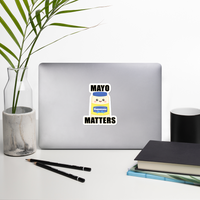 Mayo Matters Bubble-free stickers