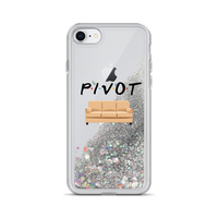 Pivot the Couch Liquid Glitter Phone Case