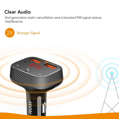Charger with FM Transmitter Bluetooth