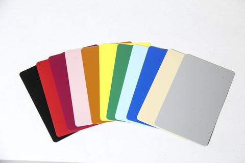 Colored Plastic Cards