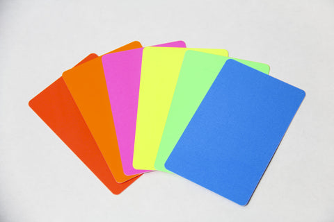 Fluorescent Plastic Cards