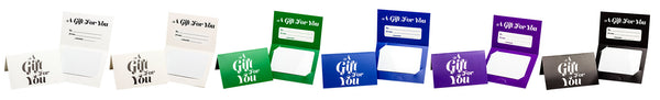 Pre-Printed Generic Folded Gift Card Holder