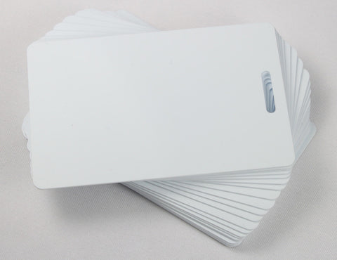 White ID Card Blanks for Thermal Printers (Luggage Slot Short Side)