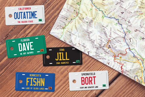 License Plate Designer Keytags
