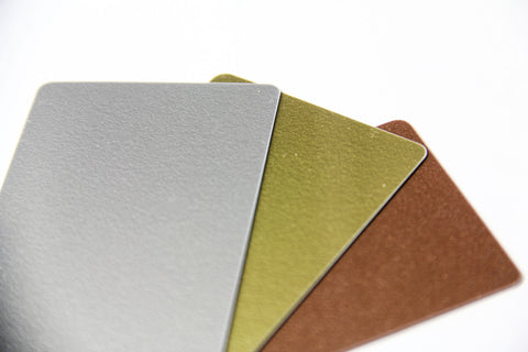 Metallic Plastic Card Stock