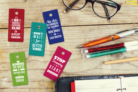 Motivational Designer Keytags