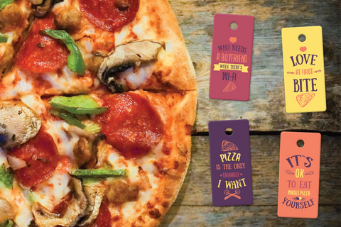 Designer PIzza Keytags