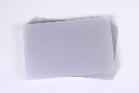 Satin Plastic Card Stock