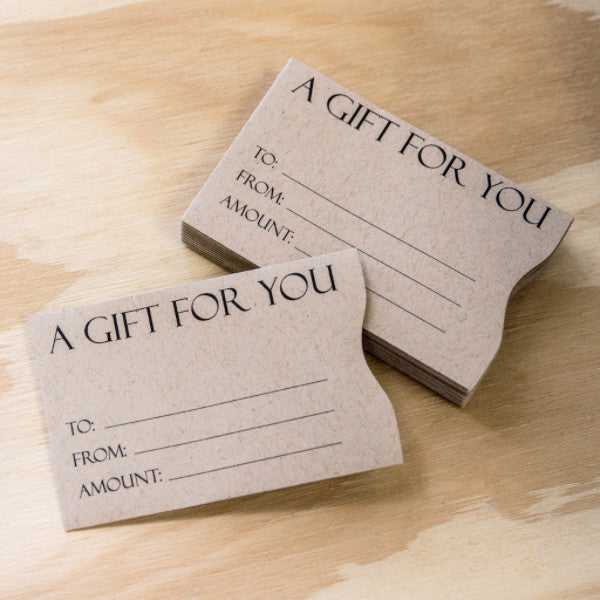 brown paper bag gift card sleeves