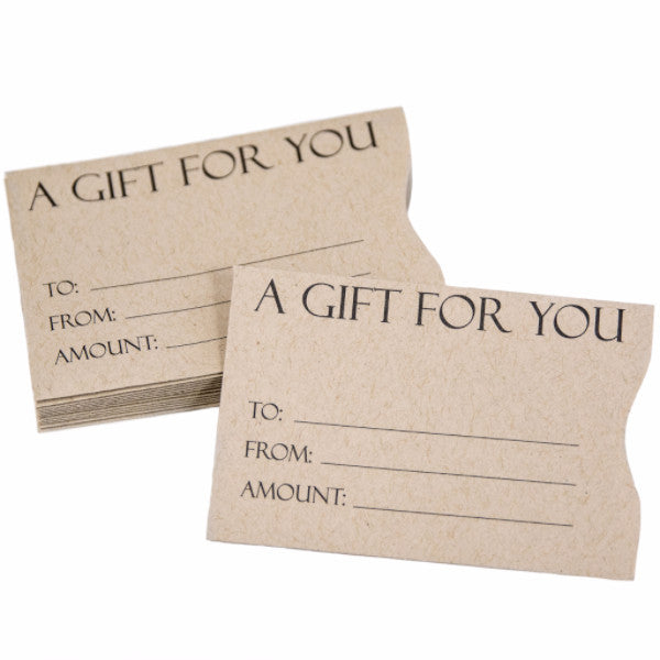 kraft paper gift card sleeves