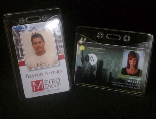 Vinyl ID Badge Holders