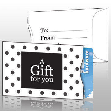 Polka Dot Gift Card Sleeves