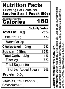 Bitchin' Sauce Chipotle Saucy Squeezers nutritional facts and ingredients.