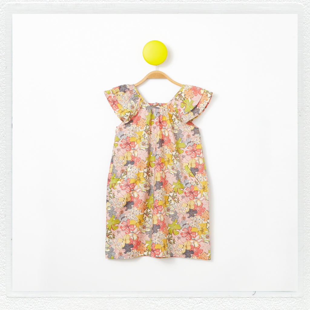 """Lucie"" Dress in Liberty Print ""Mauvey"""