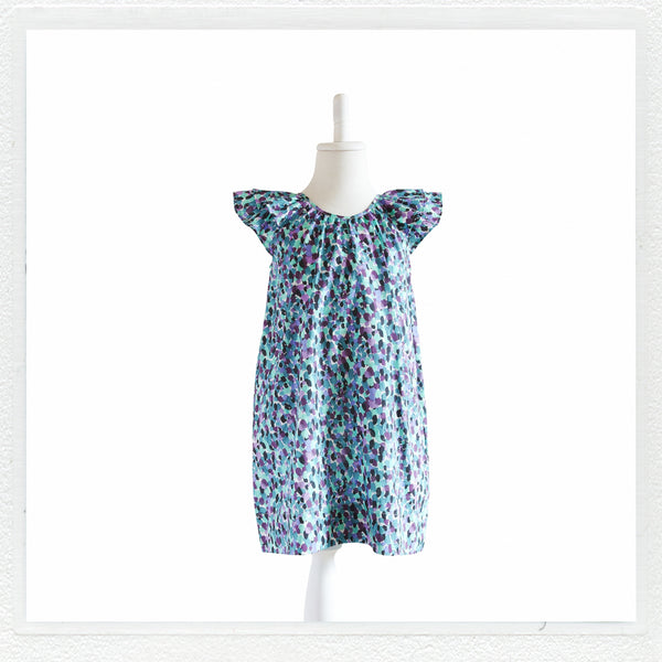 """Lucie""  Dress in Liberty Print ""Morning Dew C"""