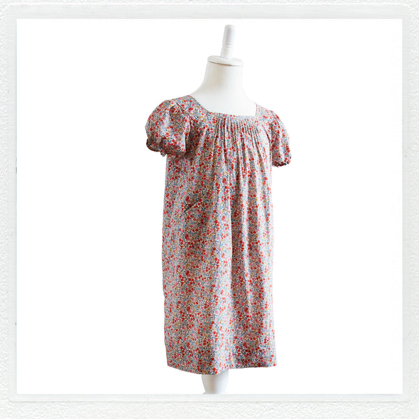 """Sadie"" Dress in Liberty Print ""Emilia's Flowers"""