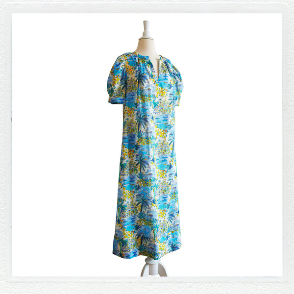 """Sunnie"" Maxi Smokk in Liberty London in ""Cape Vista"" +MASK"