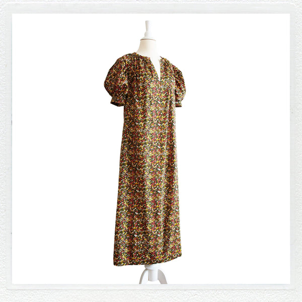 """Sunnie"" maxi Smokk in Liberty London in ""Wiltshire"" 40th Classic + MASK"