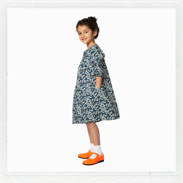 """Winnie"" Dress in Liberty Print ""Mitsi"""