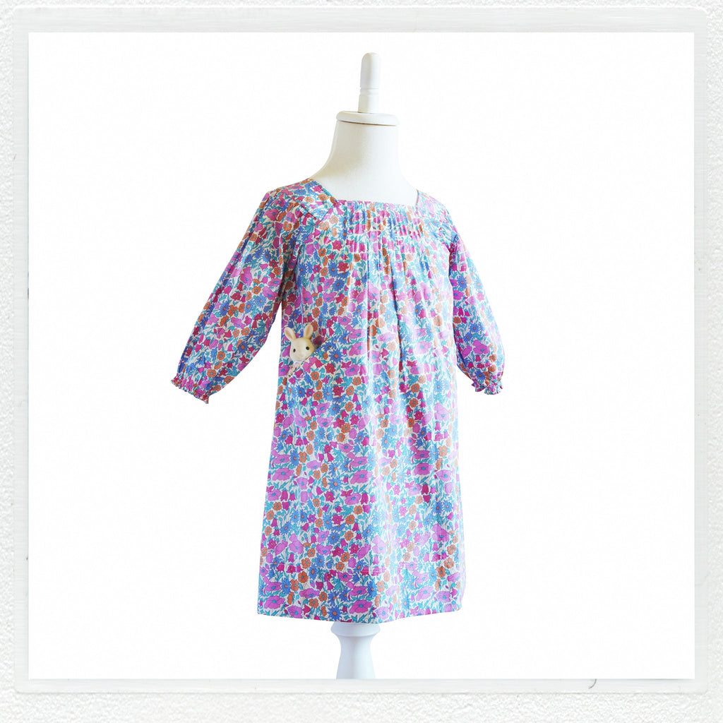 """Winnie"" Dress in Liberty Print ""Poppy and Daisy"""