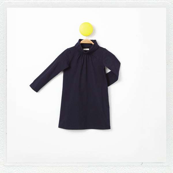 """Emmie"" Turtleneck Dress in Navy"