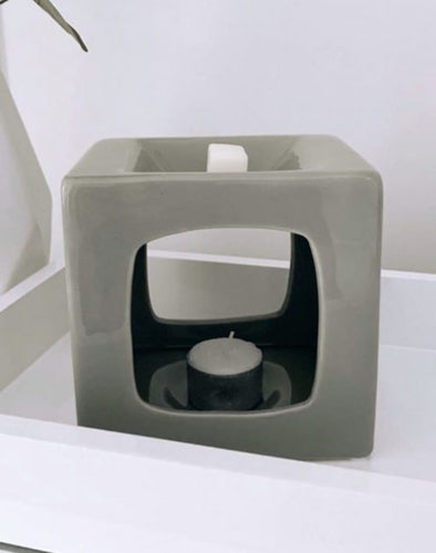 Wax Melt Burner - Talin Grey Tealight Burner