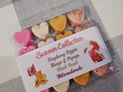 Wax Melt Heart Clam - Summer Collection