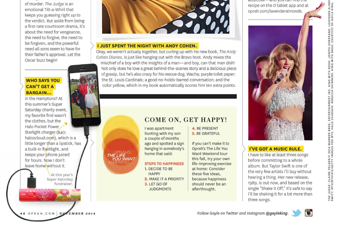 Starlight 3000 Featured as Oprah's Favorite in Oprah Magazine