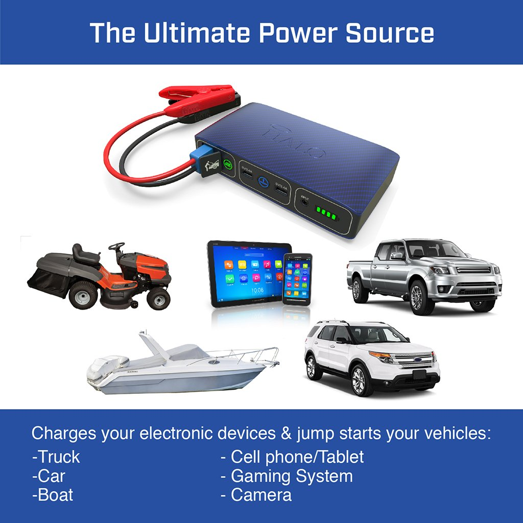 Buy Halo Bolt 57720 Portable Charger Amp Car Jump Starter W