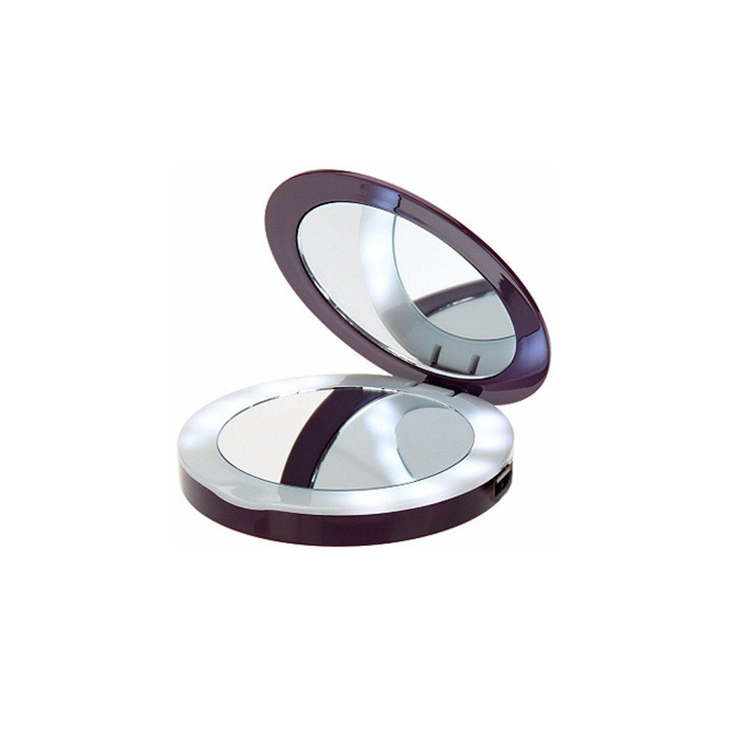 ... Portable Power   Halo 3000 MAh Lighted Compact Mirror Portable Charger  ...