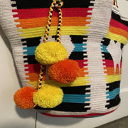 Rainbow Tooth Crochet Bag