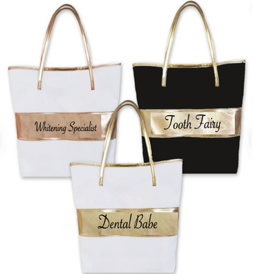 Dental Tote With Striped Center