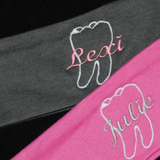 Dental Embroidered Headbands