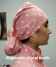 Dental Uniform Cap, Hat or Bonnet (Rapunzel Cap)