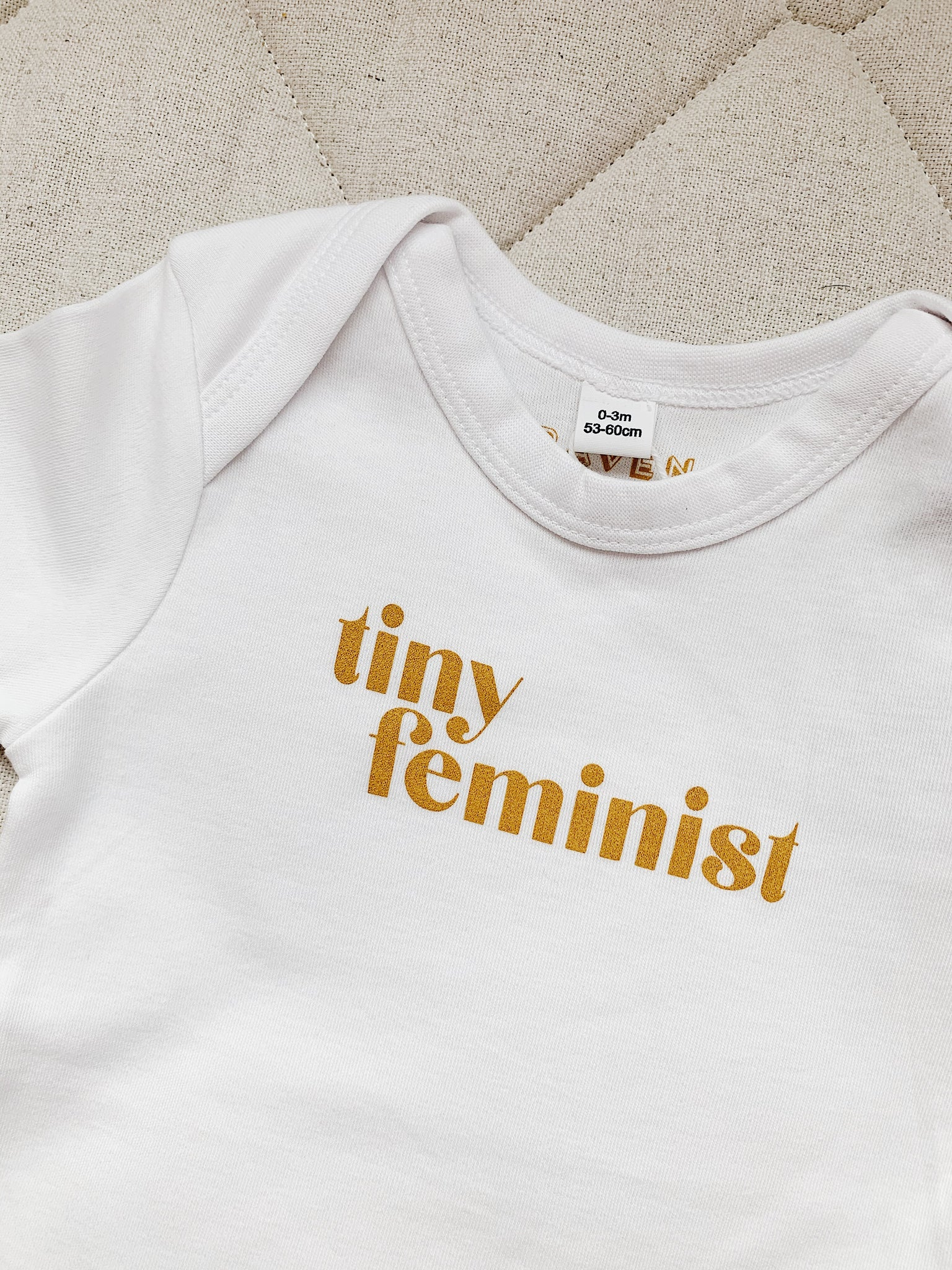 Retro Tiny Feminist Babybody