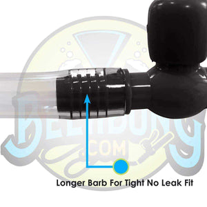 Black Valve with Tubing - beerbong.com