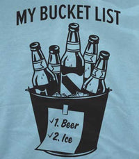 Bucket List-Beer & Ice T-Shirt - beerbong.com